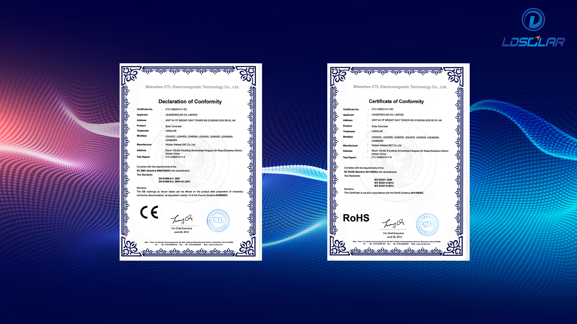 Ldsolar certificate of conformity