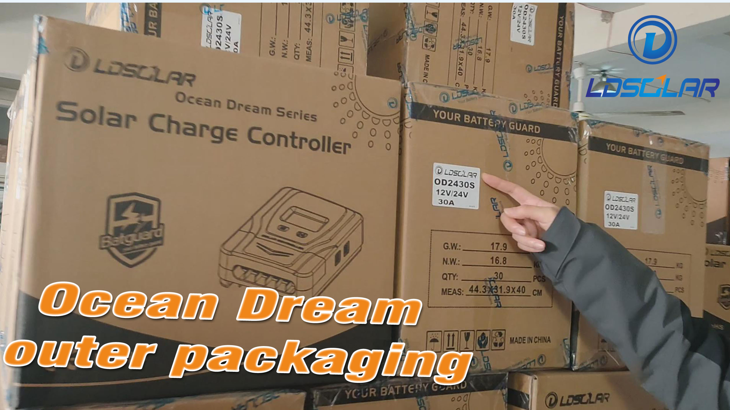 PWM solar controller Ocean Dream outer packaging introduction