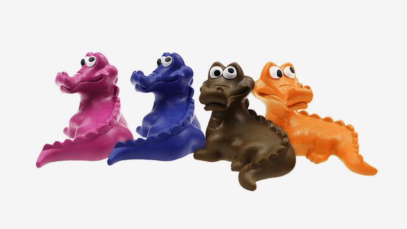 Crocodile Durable Dog Chew Toys Creaky Pet Toys Interactive Training Rubber Dog Tough Toys