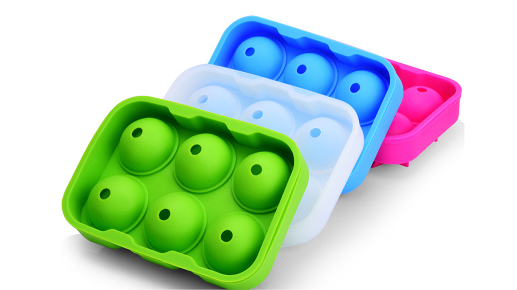Food Grade 6-Cavity Silicone Ice Ball Mould Round Ball Ice Cube Tray Maker Silicone Spheres Mold for Cocktails & Whiskey DH-Silicone