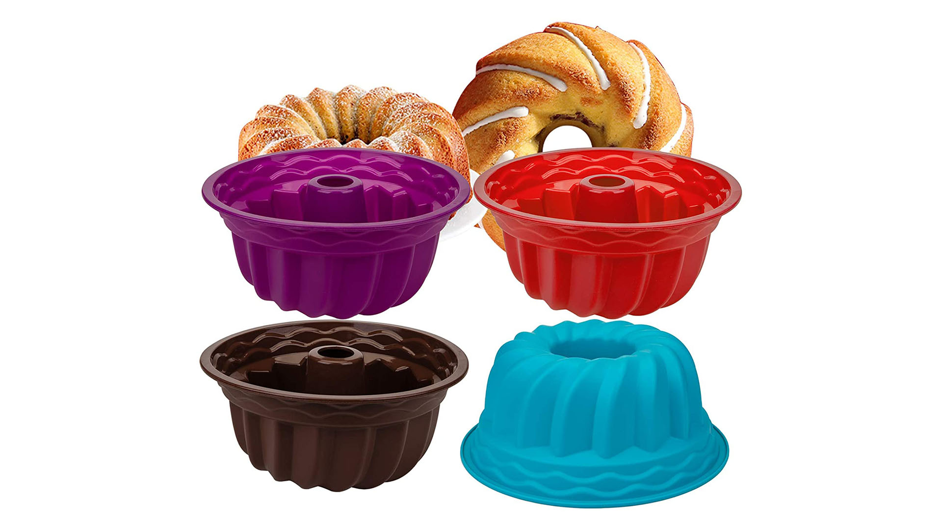Vente en gros de 9 pouces Pumpkin Silicone gâteau pain de cuisson de cuisson en spirale ronde ronde anti-bâton de gâteau de silicone pour fête d'anniversaire DIY DH Silicone fournisseur