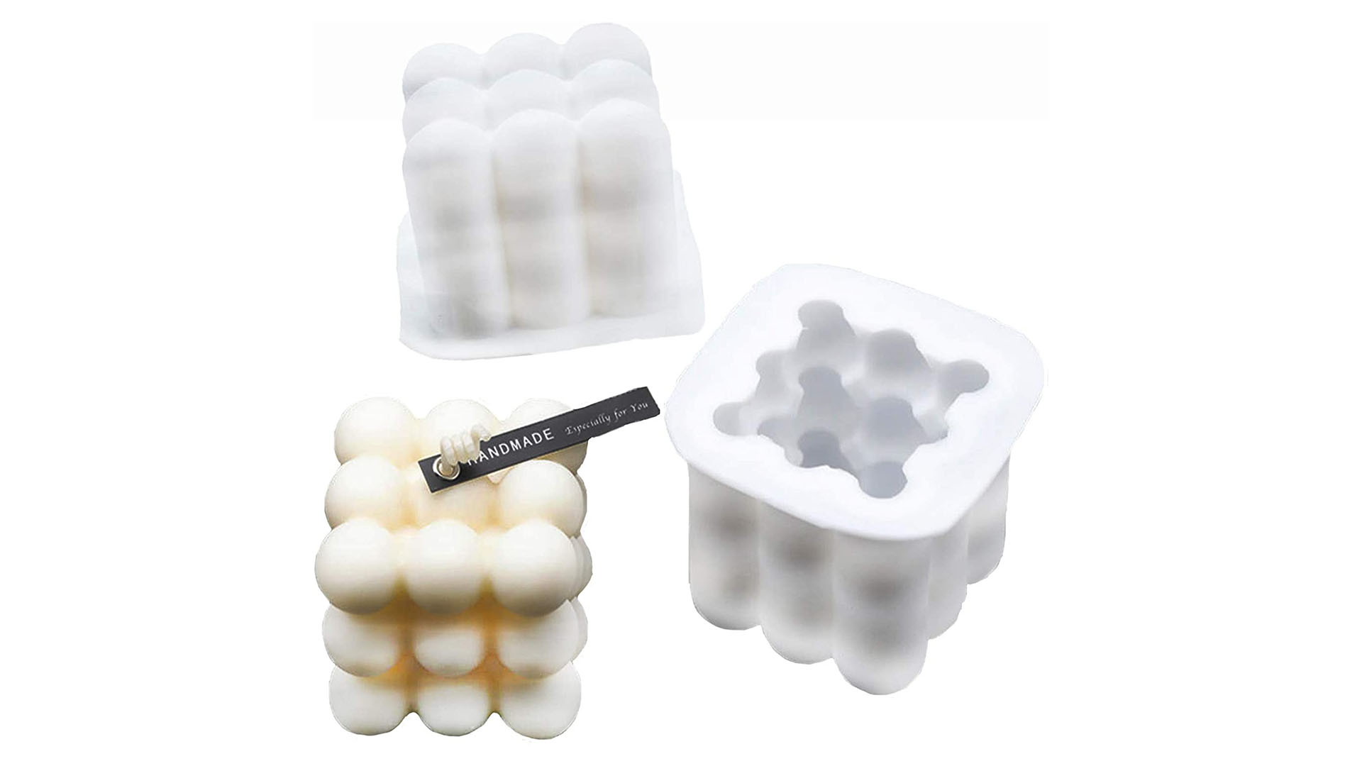 DIY Magic Box Rubik's Cube Candle Mould 3D Handmade Candles Molds for Candle Making Bubbles Silicone Candle Mold DH-Silicone Factory