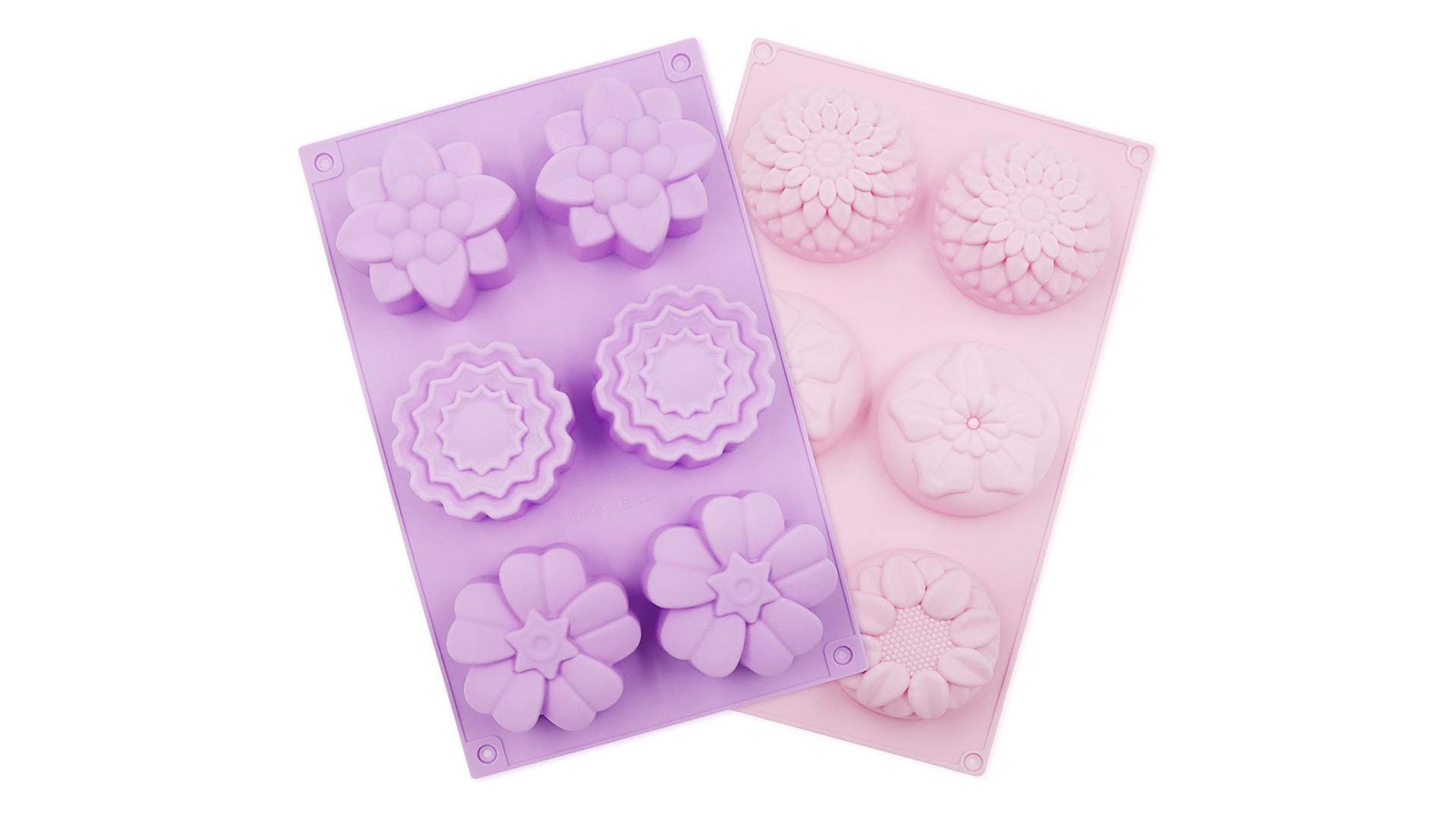 6 캐비티 꽃 실리콘 DIY 수제 비누 금형