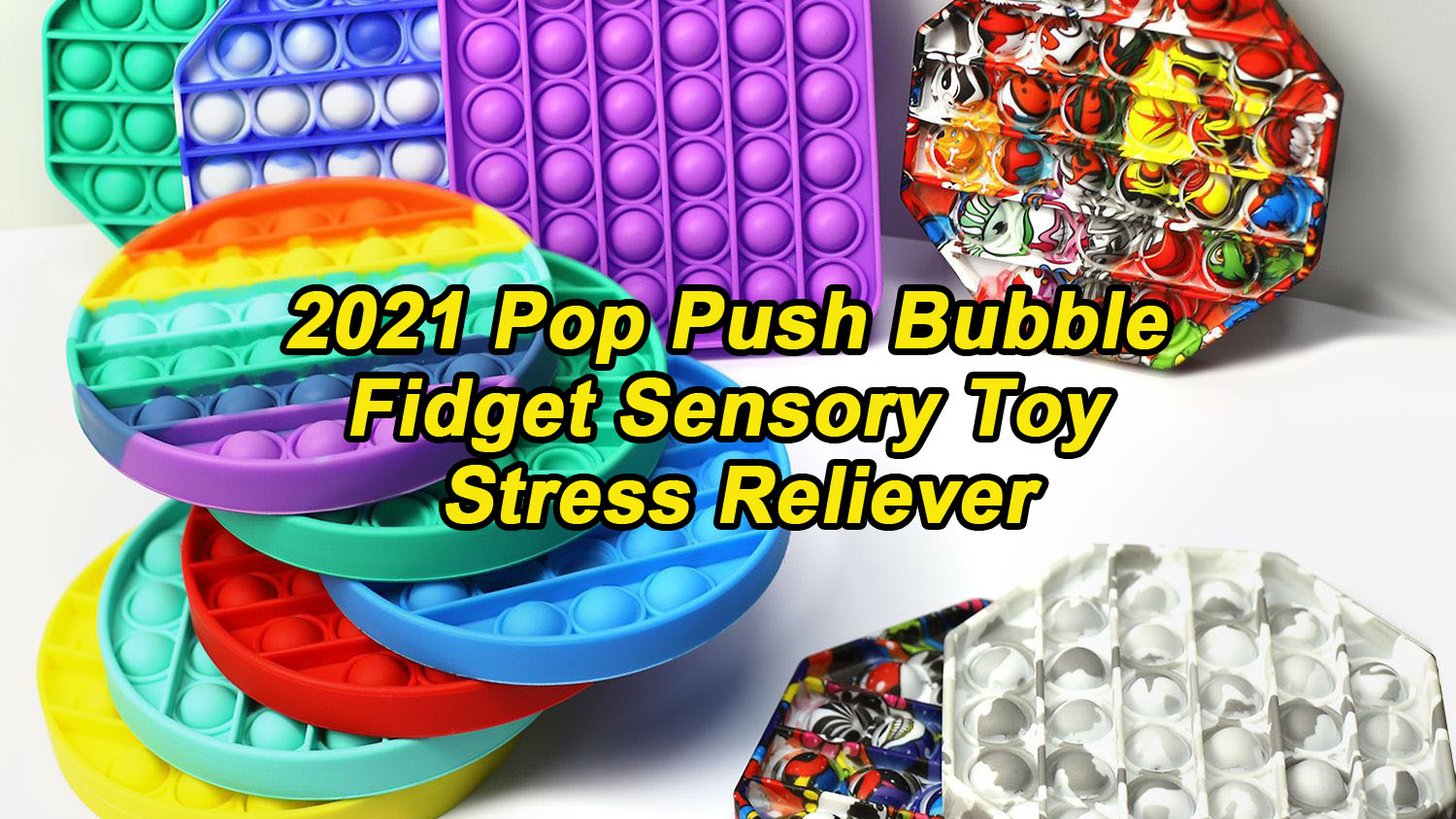 2021 POP Push Bubble Fidget Sensosy Toy Site Reliver