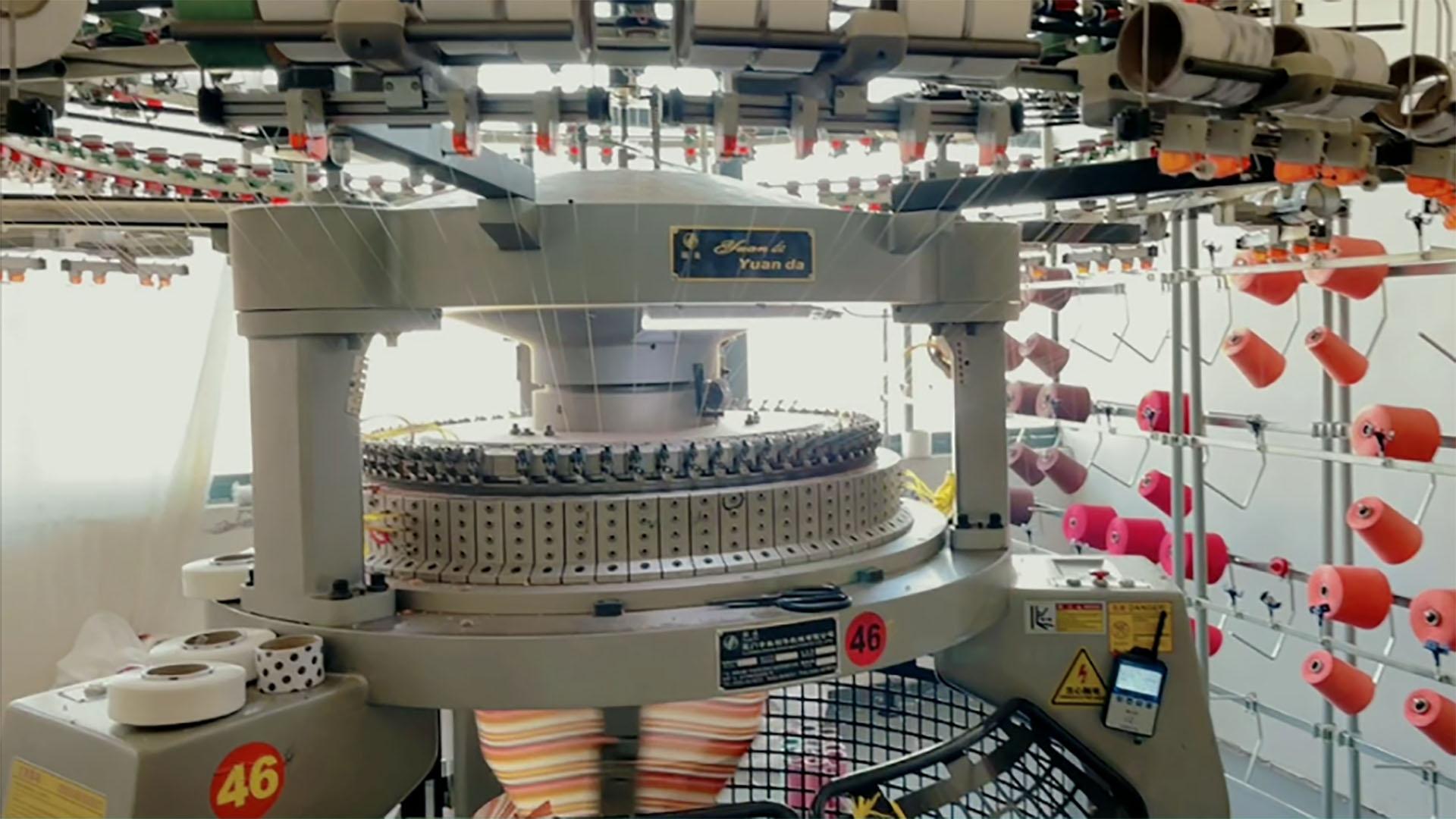 68F 12G Rib Ganda Jersey Mesin Knitting Melingkar