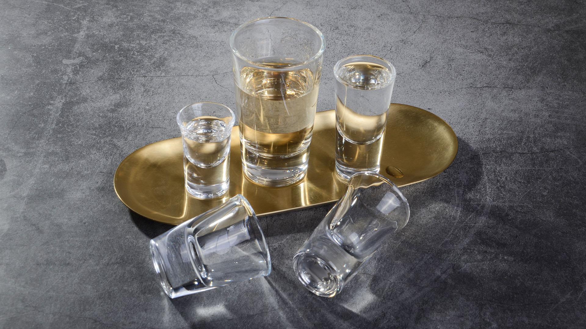 Heavy Base Shot Glass Set, Whiskey Shot Glass
