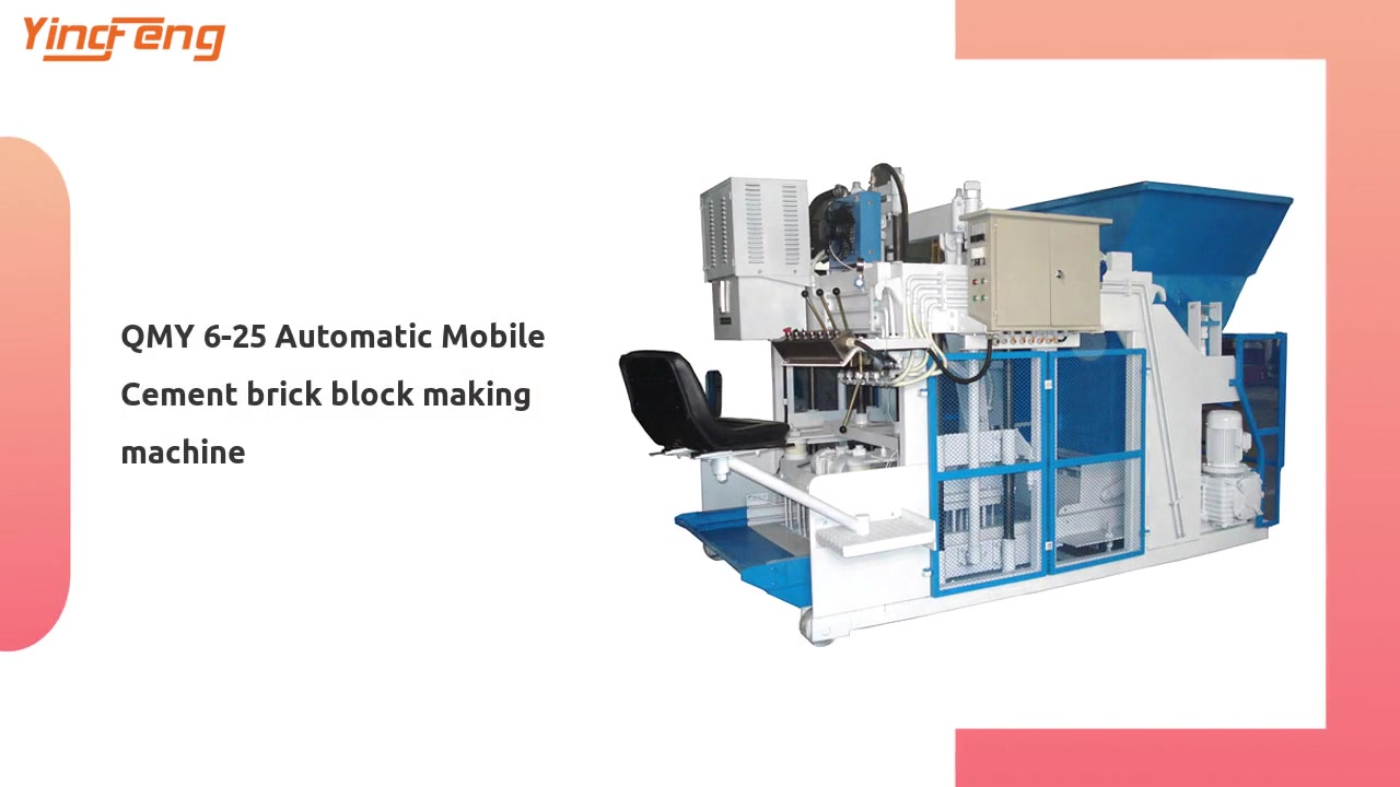 QMY 6-25 Automatic Mobile Cement brick block making machine