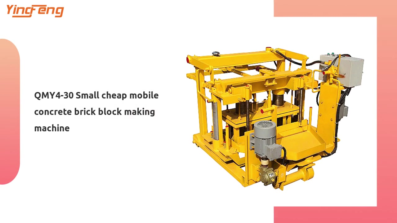 QMY4-30 Small cheap mobile concrete brick block making machine